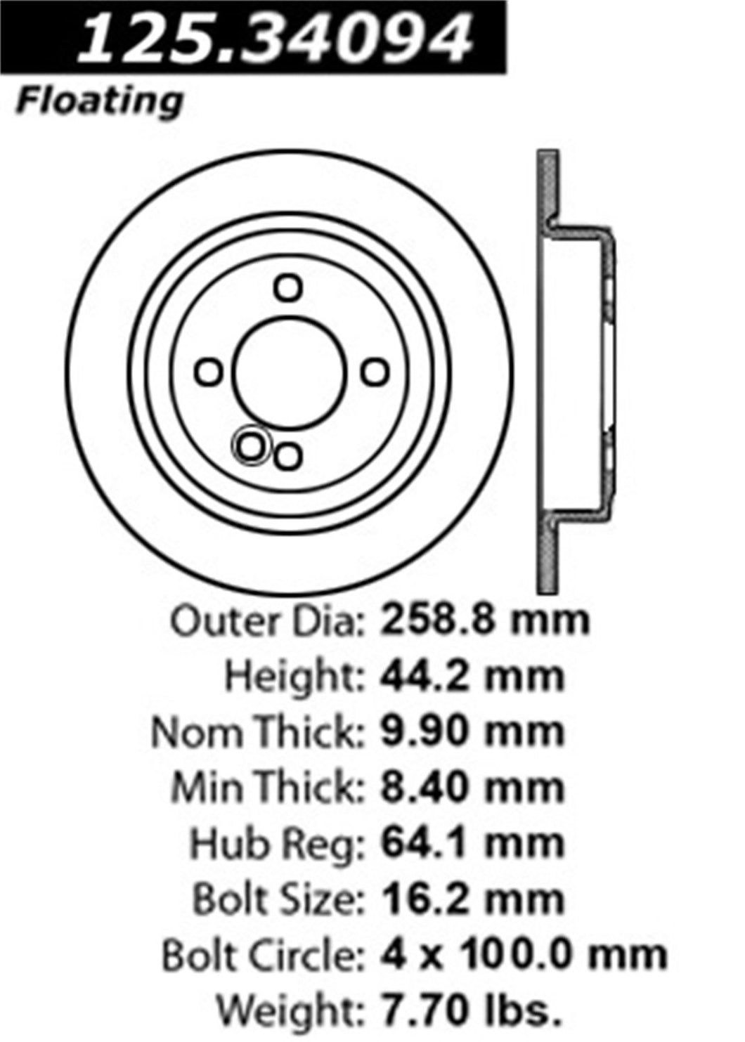 Centric Brake Rotors - 2012 Mini Cooper S Rear