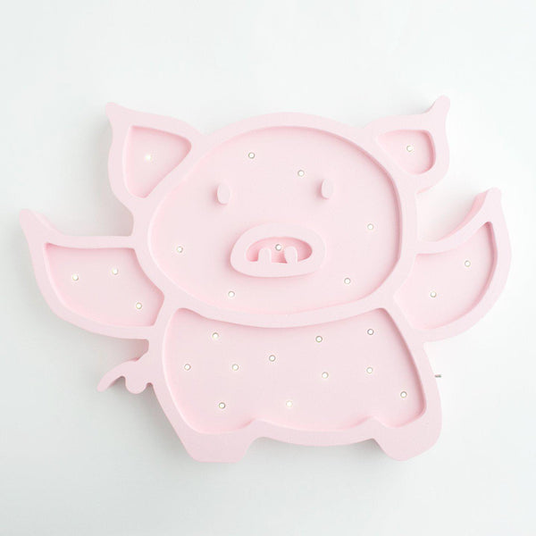 Flying Pig Marquee Light with Paula & Waffle-Marquee Art-Pulp Function