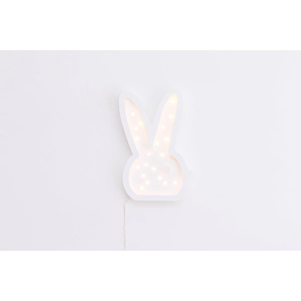Bunny Head Marquee Warm White Light, Non-Battery Operated-Marquee Art-Pulp Function