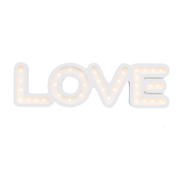 "16"" L.O.V.E-Marquee Word-Pulp Function"