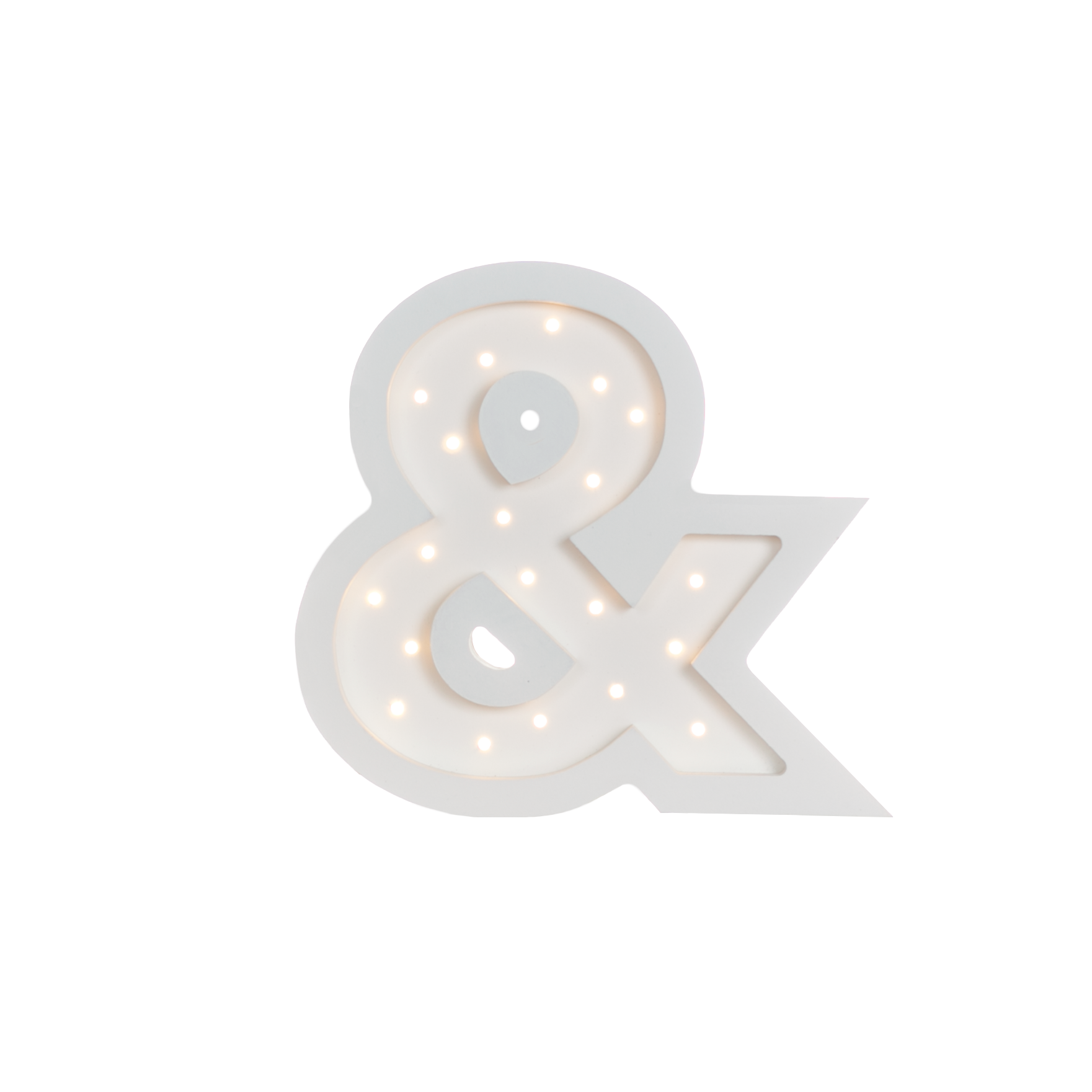 Ampersand Marquee Warm White Light-Marquee Art-Pulp Function