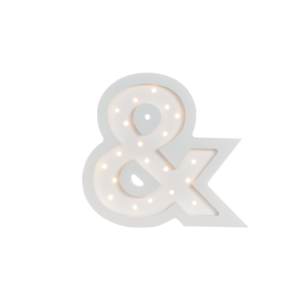 Ampersand Marquee Warm White Light, Non-Battery Operated-Marquee Art-Pulp Function