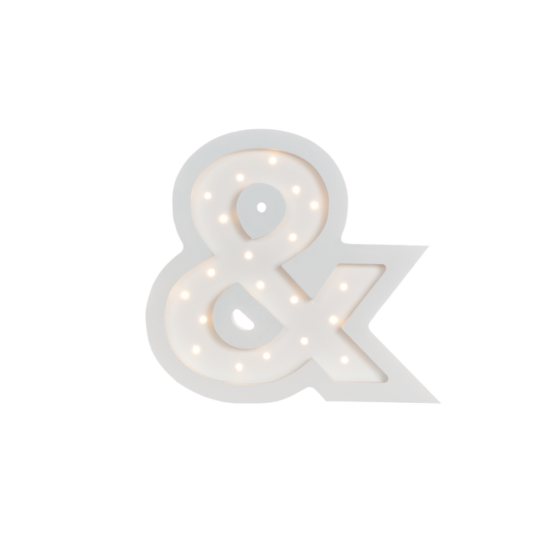 Ampersand Marquee Warm White Light, White