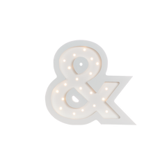 Ampersand Marquee Cool White Light-Marquee Art-Pulp Function