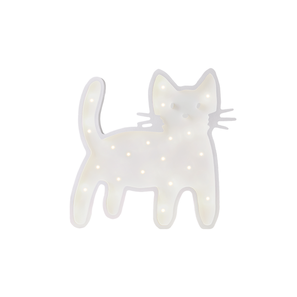 Basil the Cat Standing Marquee Warm White Light-Marquee Art-Pulp Function
