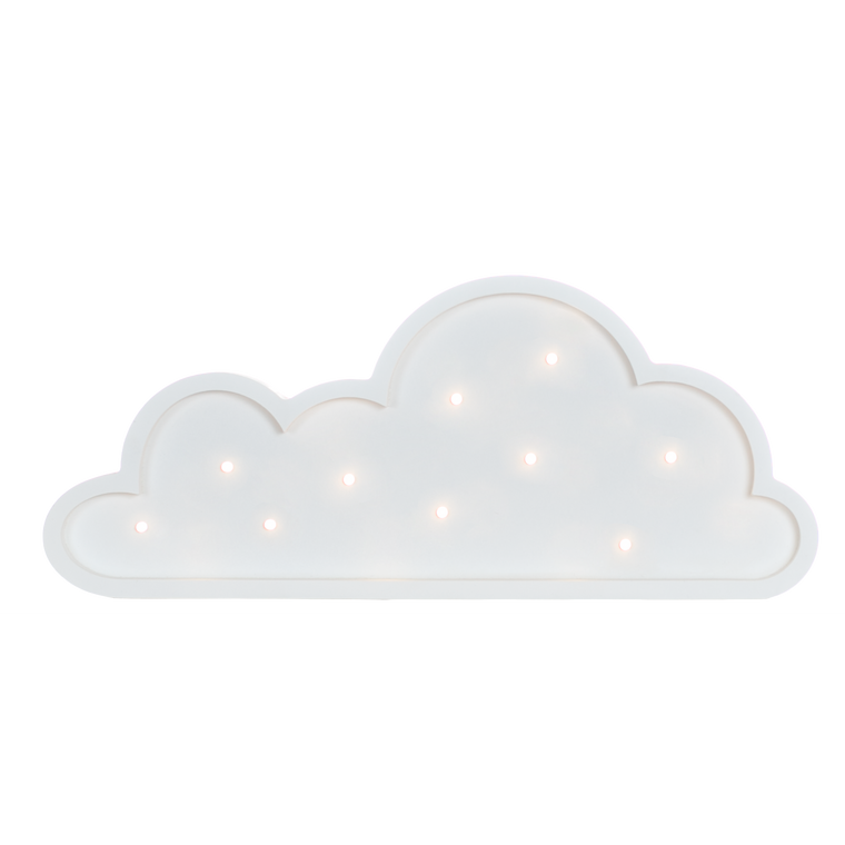 Cloud-Mini Marquee Warm White Light, White