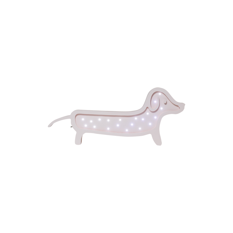 Dachshund Marquee Cool White Light, Soft Pink