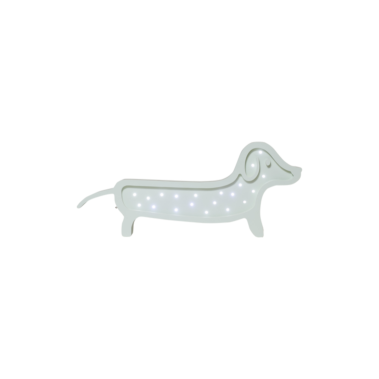 Dachshund Marquee Warm White Light, Mint Green