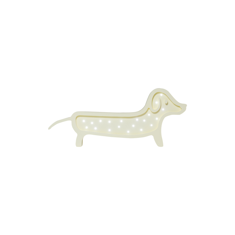 Dachshund Marquee Warm White Light, Yellow