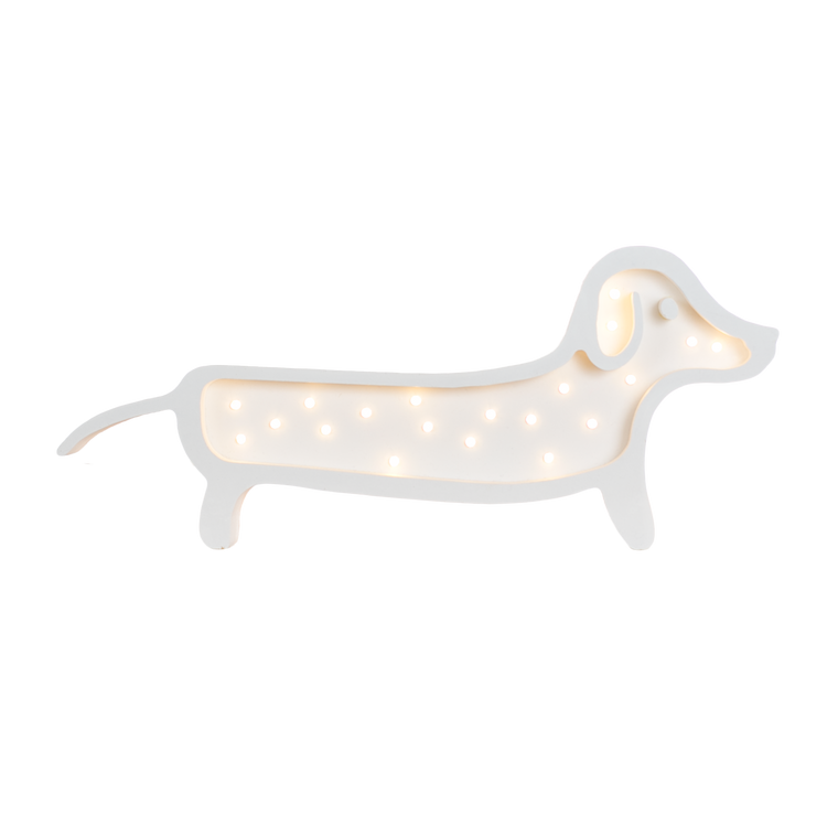 Dachshund Marquee Warm White Light Non-Battery Operated