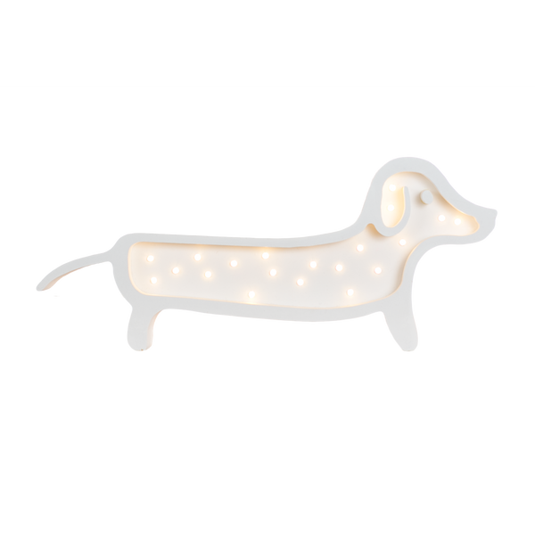 Dachshund Marquee Light with Paula & Waffle-Marquee Art-Pulp Function
