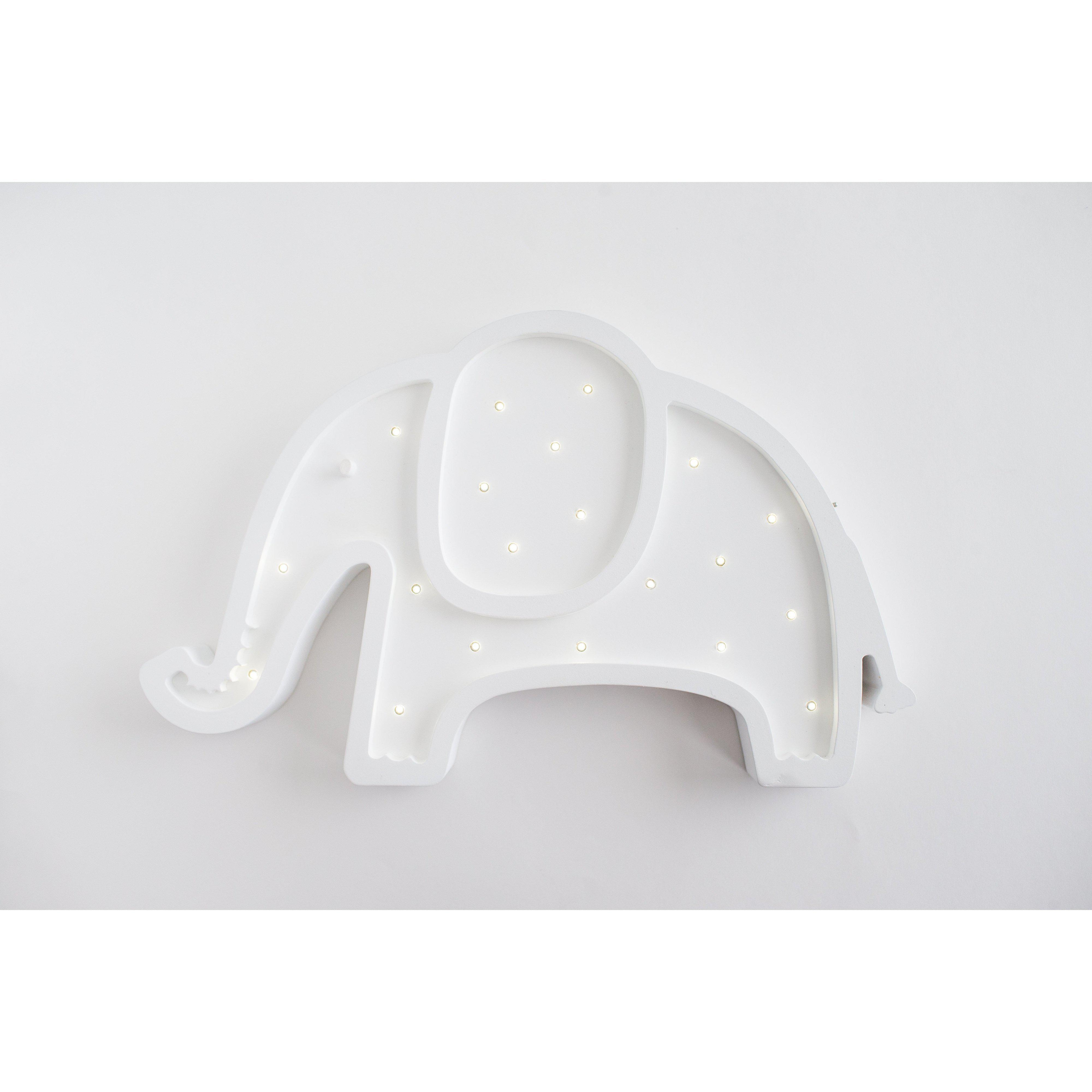 Elephant Marquee Natural White Light-Marquee Art-Pulp Function