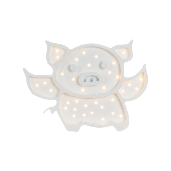 Flying Pig Marquee Warm White Light, Non-Battery Operated-Marquee Art-Pulp Function