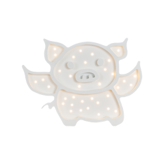 Flying Pig Marquee Warm White Light-Marquee Art-Pulp Function