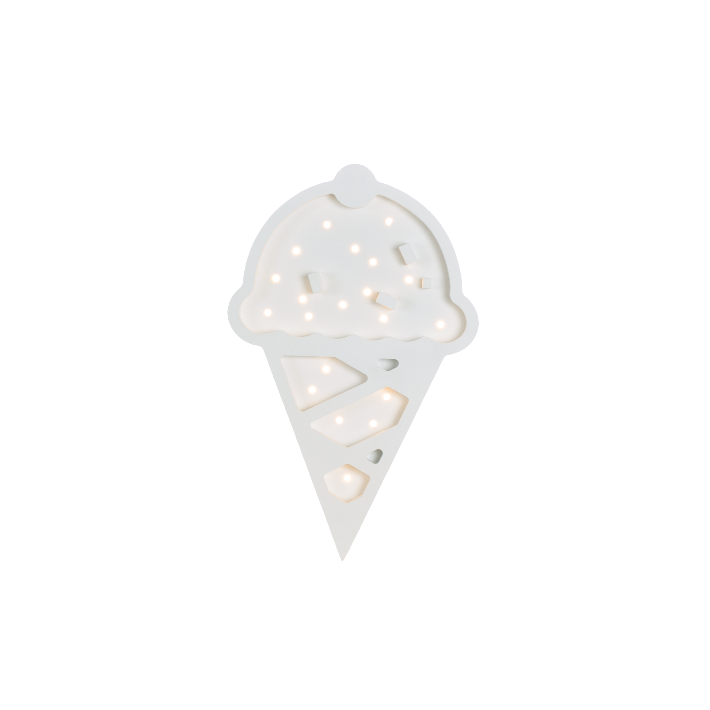 Ice Cream Marquee Warm White Light, Non-Battery Operated-Marquee Art-Pulp Function