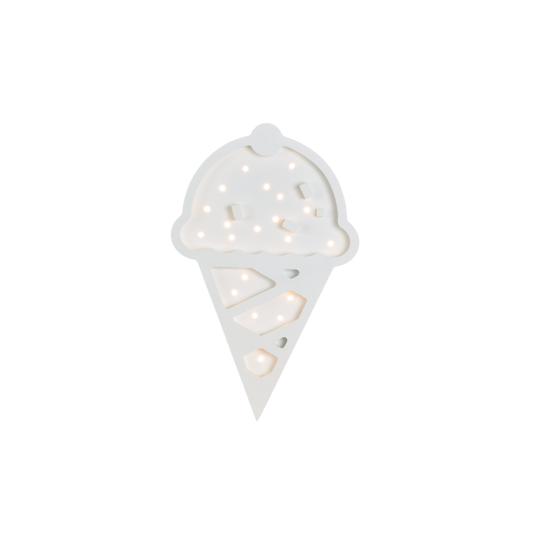 Ice Cream Marquee Warm White Light, White