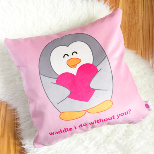 Queenie's Cards 'Waddle I Do Without You' Throw Pillow-Stationery-Pulp Function