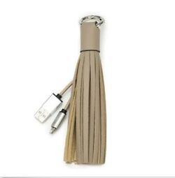 Incipio Chic Buds Tassel Keyring + Lightning Cable - Taupe