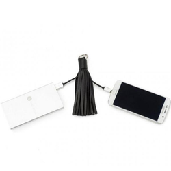 Incipio Chic Buds Tassel Keyring + MicroUSB Cable - Black