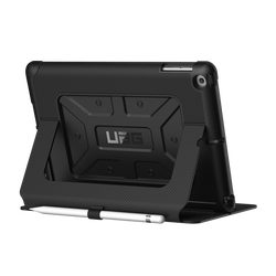 UAG iPad (2017 9.7 Screen) Metropolis Case-Blk/SilverLogo