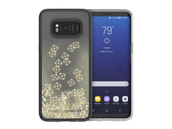Rebecca Minkoff Glitterfall for Samsung GS8+ - Gold Studs