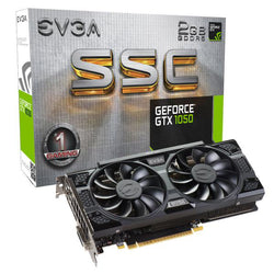 EVGA GeForce GTX1050 SSC GAMING Graphics Card, 2G GDDR5, PCIE, Full Height, ACX 3.0 (2 Fans), DVI-D, DP, HDMI, Max 3 Outputs