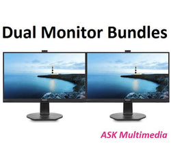 "Phlips Dual Monitor Bundle - 2 x 272B7QPTKEB - 27"" Quad HD Secure Wecam Monitors"