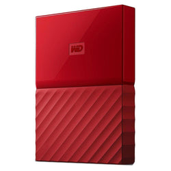 WD My Passport 2TB USB 3.0 Portable Hard Drive - Red