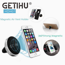 Getihu Universal Magnetic Air Vent Car Mount for Smartphones - Silver