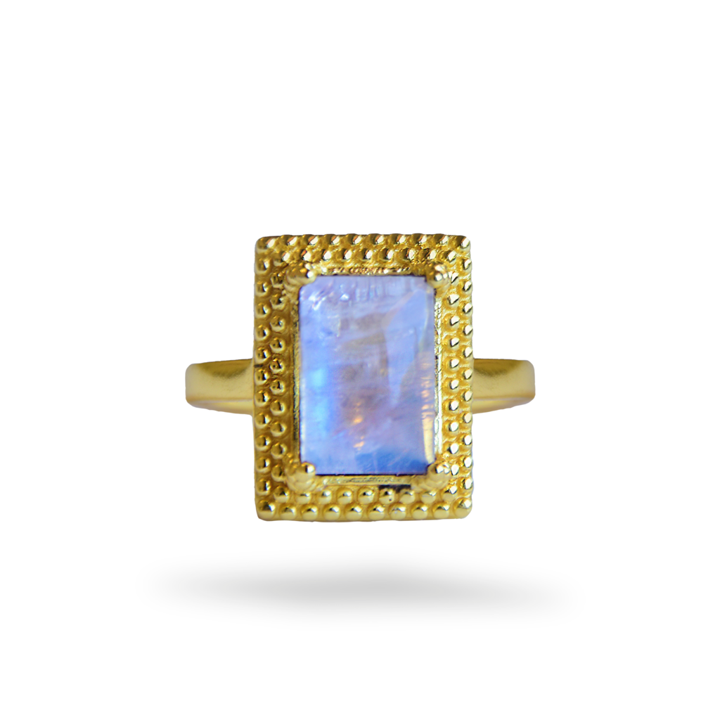Monica Ring | Rainbow Moonstone