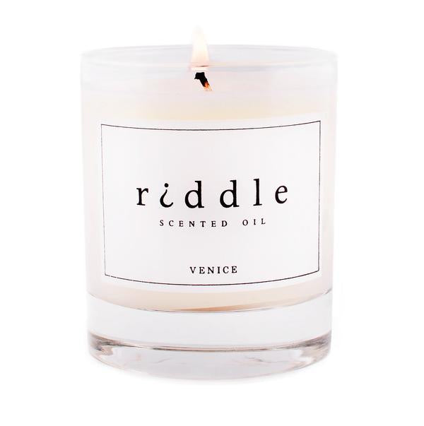 Riddle Oil Candle