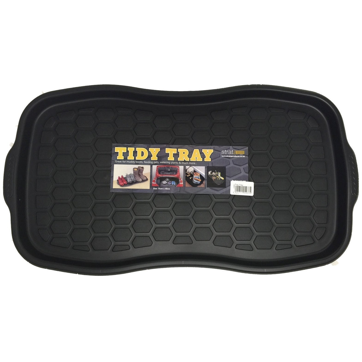 Boot tray color black shows full front view