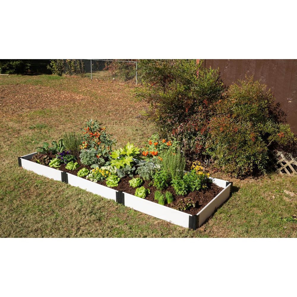 Raised Garden Bed Kit - Composite White 4\' X 12\' X 8\