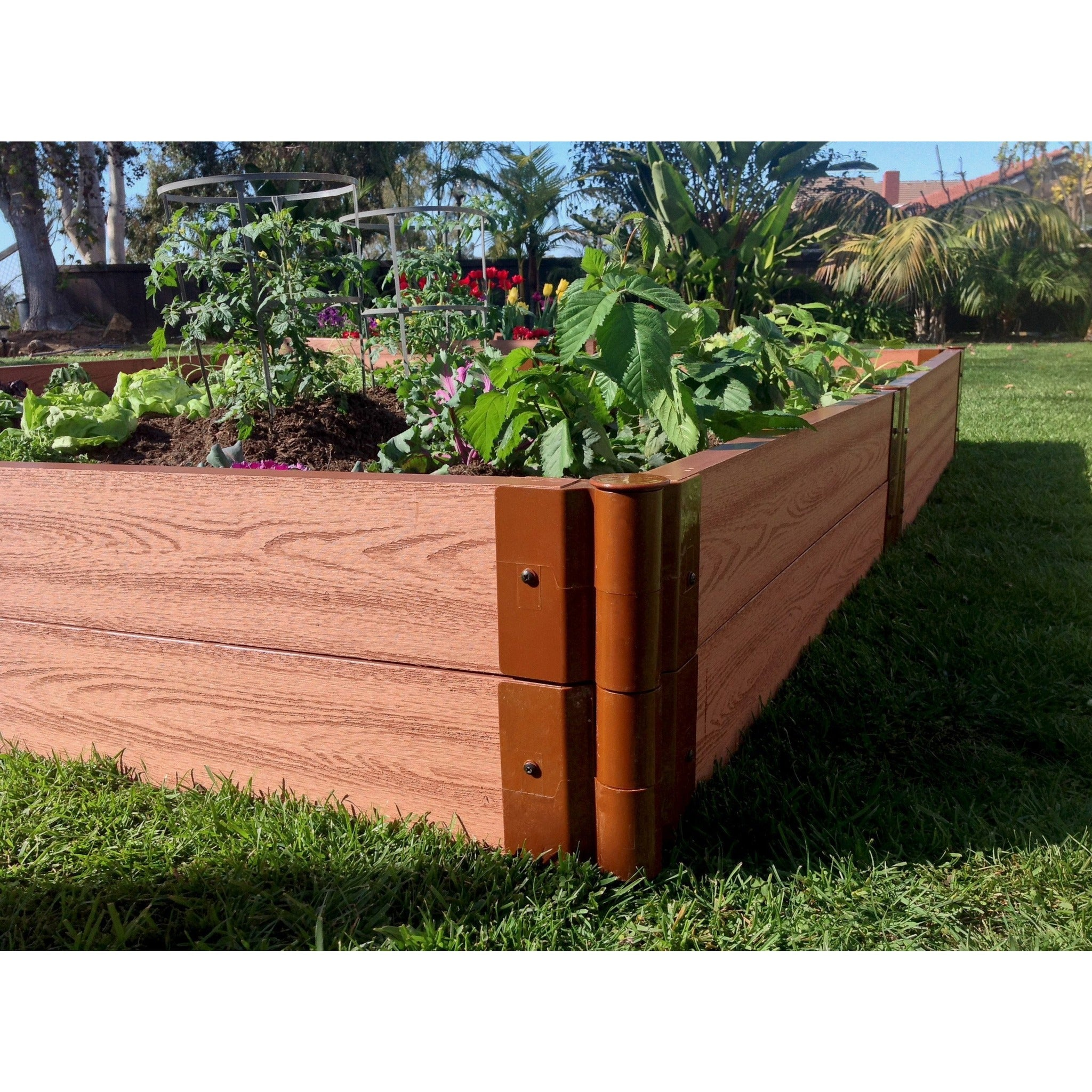 bed wooden garden wood brown good beds elevated design unique in furniture interesting a