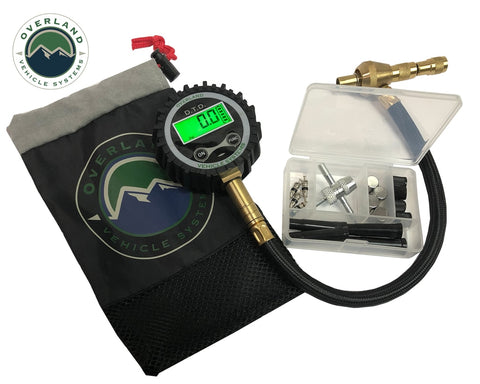 Digital Tire Tire Deflator with Valve Kit & Storage Bag Universal Overland Vehicle Systems