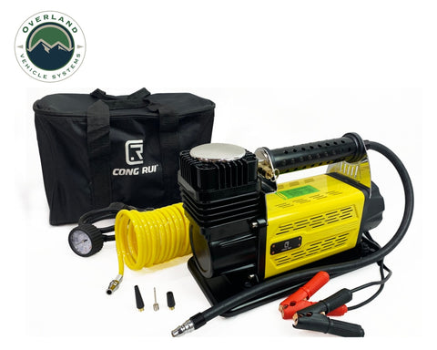 Portalble Air Compressor System 5.6 CFM With Storage Bag, Hose and Attachments Universal Overland Vehicle Systems