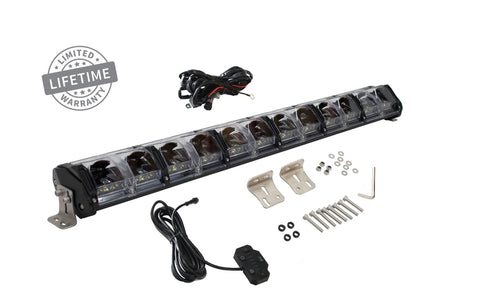 30 Inch LED Light Bar With Variable Beam DRL,RGB Back Light 6 Brightness EKO Overland Vehicle Systems