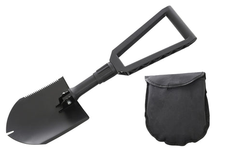 Multi Functional Military Style Utility Shovel with Nylon Carrying Case Overland Vehicle Systems