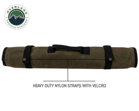 Rolled Tool Bag Socket With Handle And Straps 16 Lb Waxed Canvas Universal Overland Vehicle Systems