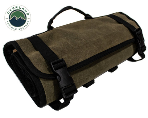 First Aid Bag Rolled Brown 16 Lb Waxed Canvas Canyon Bag Overland Vehicle Systems