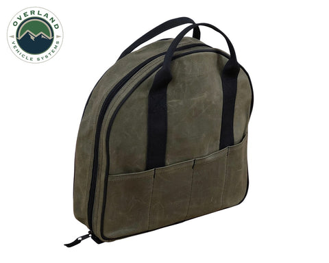 Jumper Cable Bag 16 Lb Waxed Canvas Overland Vehicle Systems