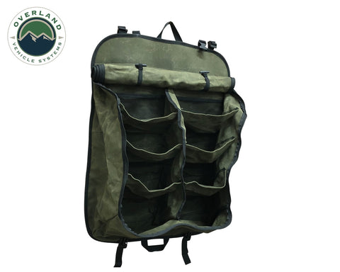 Camping Storage Bag 9 Storage Bins 16 Lb Waxed Canvas Overland Vehicle Systems