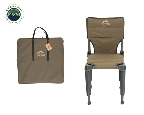 Camping Chair Tan with Storage Bag Wild Land Overland Vehicle Systems