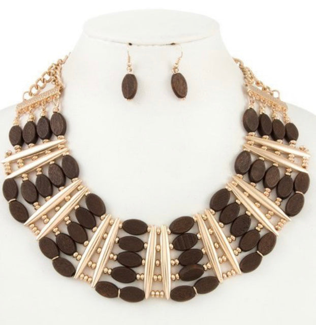 Woody Love Necklace Set