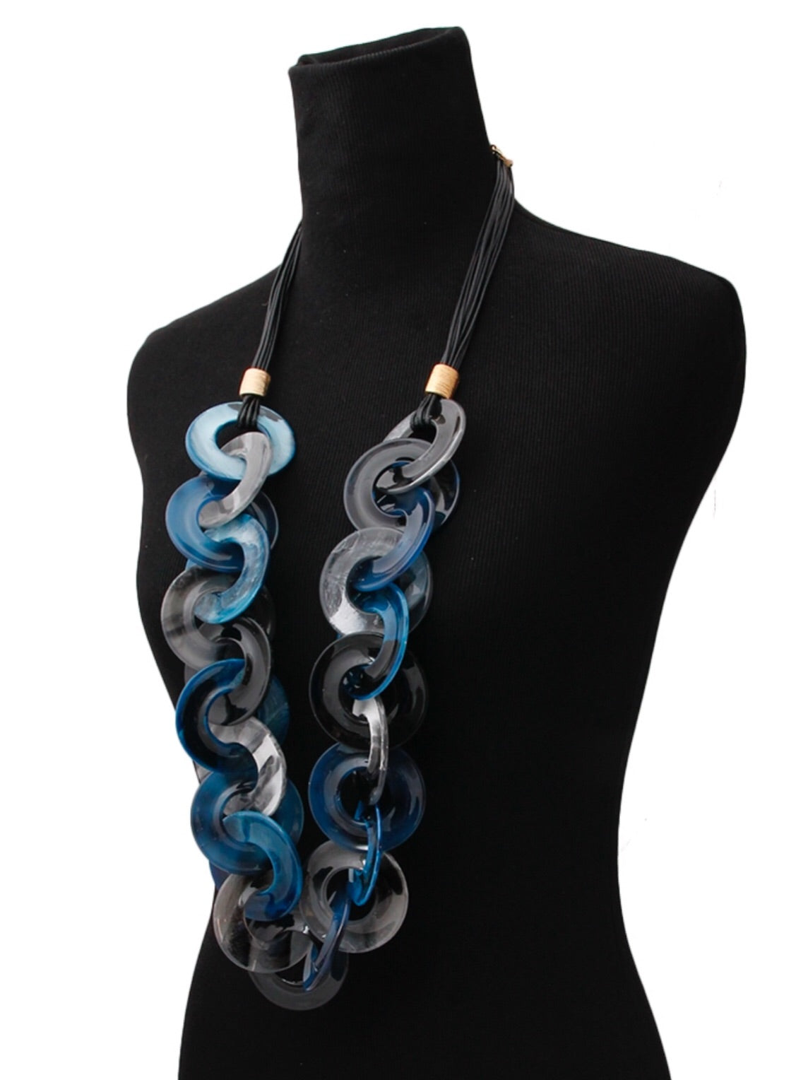 Blue Swirl Necklace Set