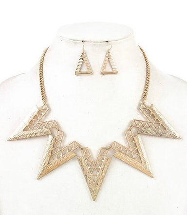 Love Triangle Necklace Set