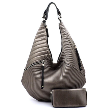 Cordera Hobo Bag with Matching Wallet