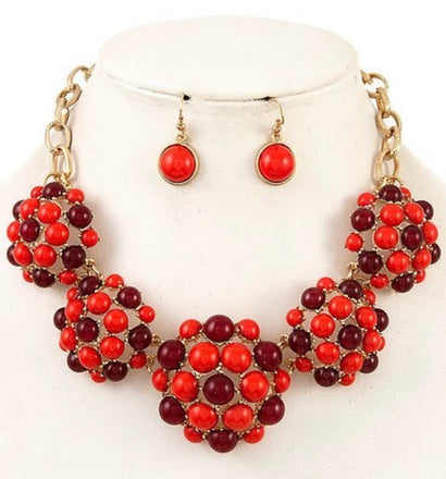 Ballin Red Necklace Set
