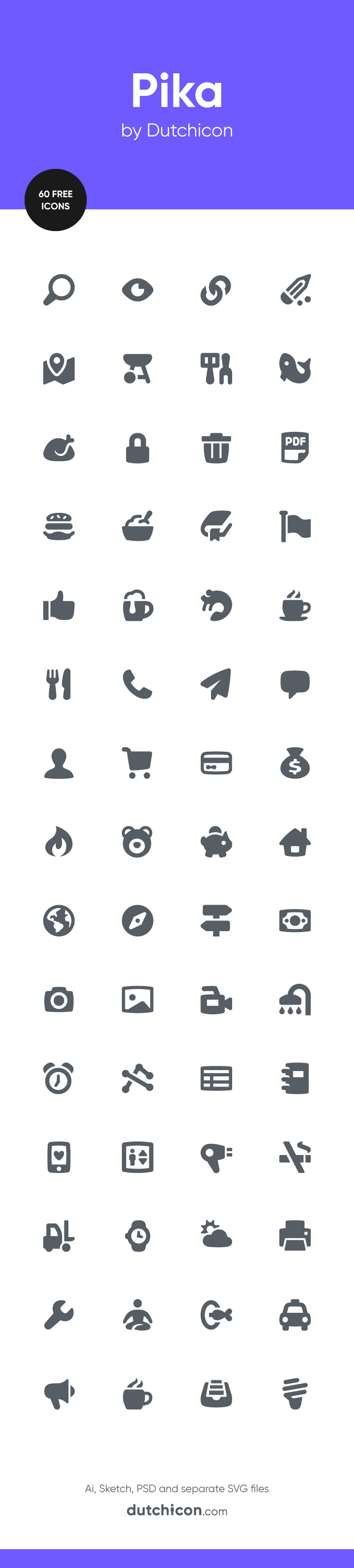 60 FREE icons in Pika style available at Dutchicon.com. Direct download: https://dutchicon-store.myshopify.com/cart/31969687314:1?channel=buy_button