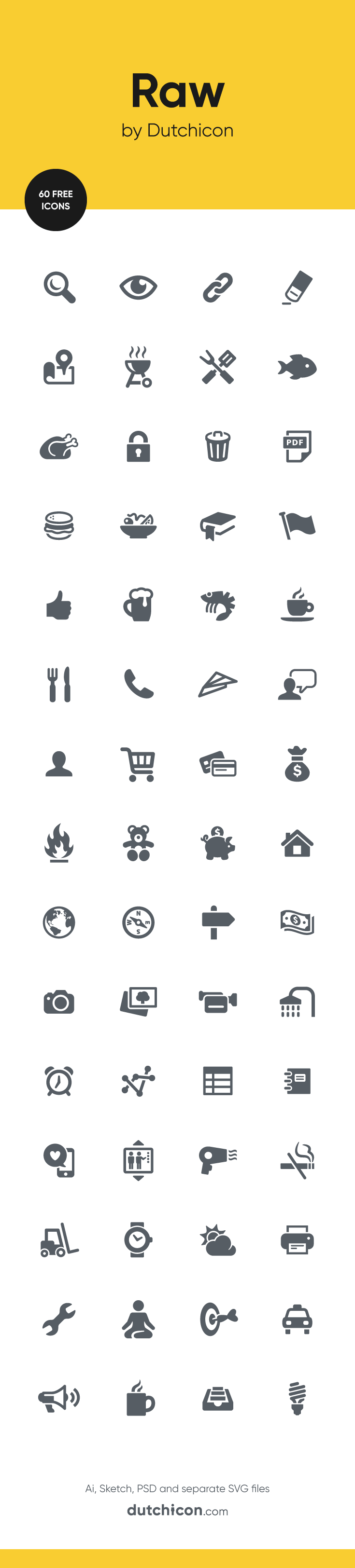 60 FREE icons in Raw style available at Dutchicon.com. Direct download: https://dutchicon-store.myshopify.com/cart/31969647954:1?channel=buy_button